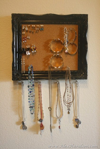 DIY Framed Jewelry Organizer7