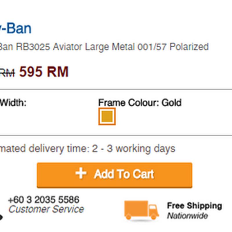 Glasses Online: Ray-Ban RB3095 untuk isteriku !