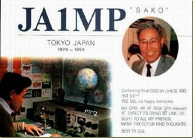 JA1MP---- Sako Hasegawa, founder of Yaesu (SK)