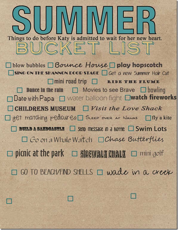 summer bucket list 2012 copy