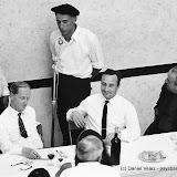 Mattin et Xalbador improvisent après un repas au trinquet d'Ascain