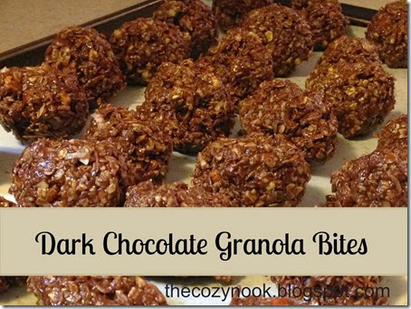 Dark Chocolate Granola Bites - The Cozy Nook
