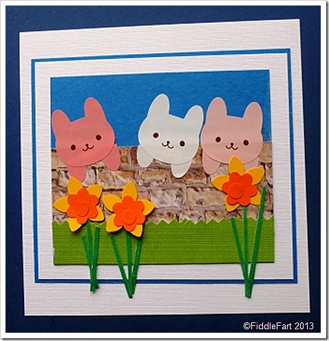 Easter Rabbit Card - WholePort stickers