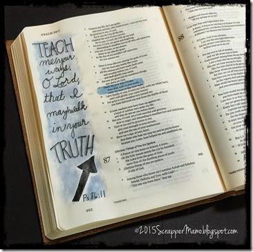 Bible Journaling Ps 86-11