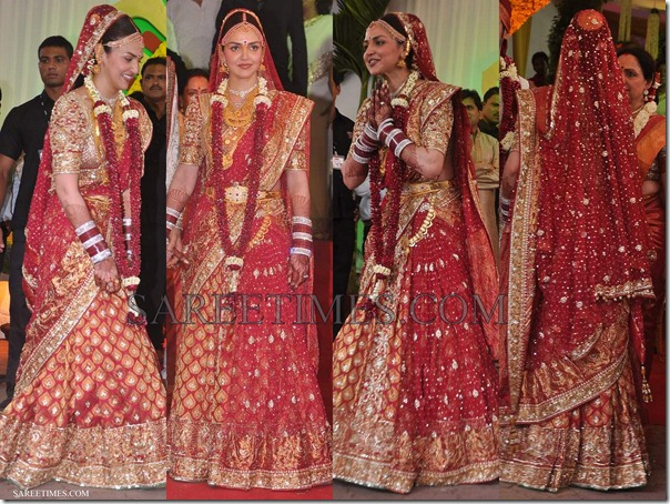 Esha_Deol_Neeta_Lulla_Wedding_Saree