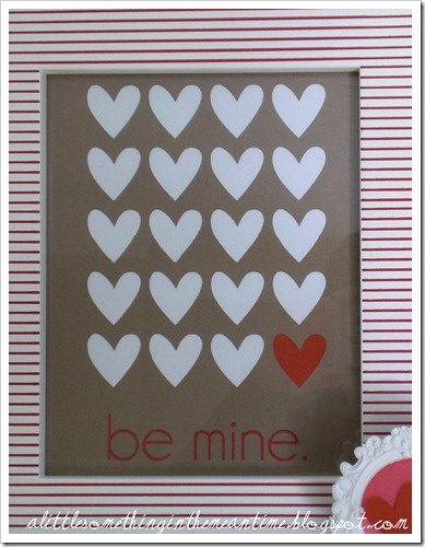 Be mine framed