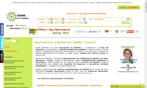 HomesForTravellers is based in Madrid