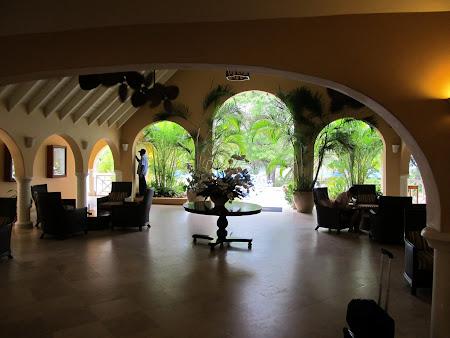 Receptie Hotel Smugglers Cove St. Lucia Caraibe