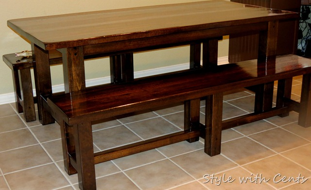 how to refinish a kitchen table after1