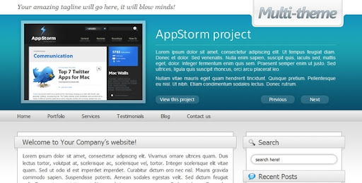Multi-theme: 10 Colors - Business/Portfolio/Blog - ThemeForest Item for Sale