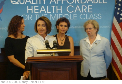 'Speaker Pelosi on Health Care Reform and Medical Costs' photo (c) 2009, Nancy Pelosi - license: http://creativecommons.org/licenses/by/2.0/