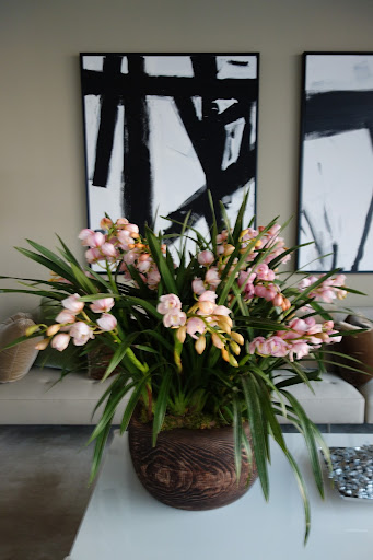 The cymbidiums were the perfect shade of pink.