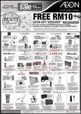 AEON FREE Gift Voucher Promotion 2013 Branded Shopping Save Money EverydayOnSales