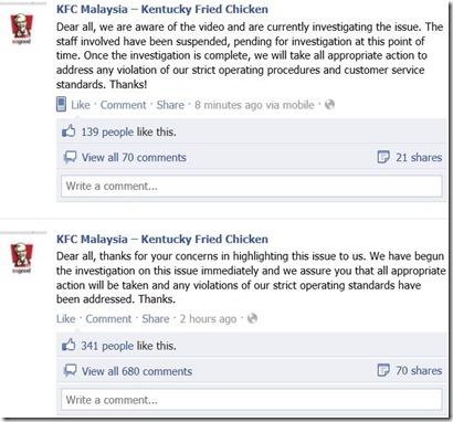 respon-KFC-pekerja-tumbuk-pelanggan