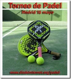 I Torneo de Pádel #diadeinternet el 18 de mayo 2013 en el Club El Estudiante de Madrid.