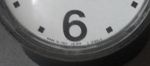 Matching clock face from the original Cronotime clock by Pio Manzù for Ritz-Italora
