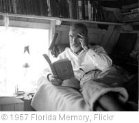 'Old hermit Roy Ozmer reading a book at his house: Pelican Key, Florida' photo (c) 1957, Florida Memory - license: http://www.flickr.com/commons/usage/