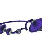 Nowoczesna obejma dekoracyjna do zasłon i tkanin z magnesem. Granatowa.