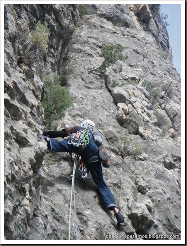 Via Gali-Molero 500m 6b  Ae (V  A1 Oblig) (Roca Regina, Terradets) (Isra) 9888