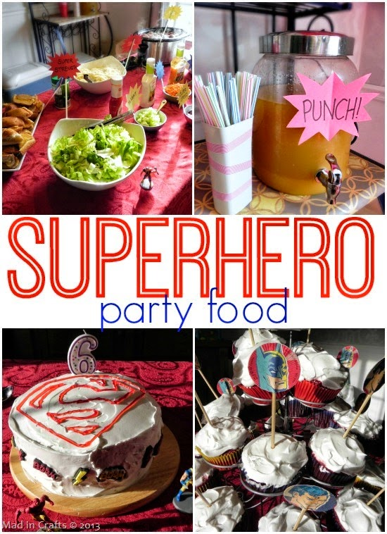 Superhero Party Menu