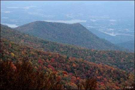 view from Brasstown Bald, Georgia