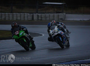 ASBK Queensland Raceway. Friday Practice.  2012 Round 5