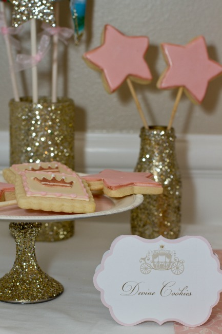 Princess Birthday Party Star Cookie Wands