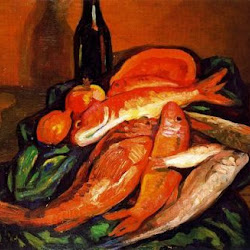 Benjamín Palencia (1943): Bodegón de peces. Transvanguardia/Figuración. Realismo crítico