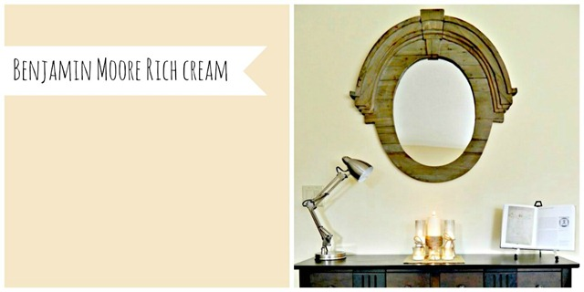 Favorite paint colors of diy bloggers decor and the dog for Benjamin moore rich cream