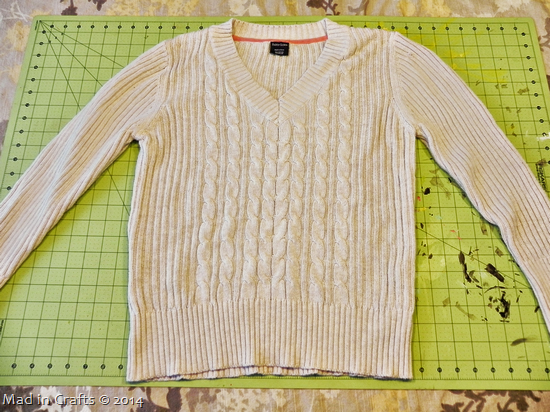 Sweater to Cardigan