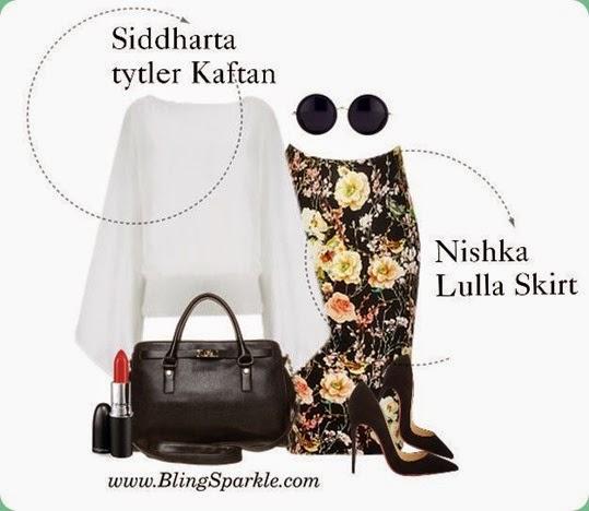 skirt style kaftan, Nisha Lulla