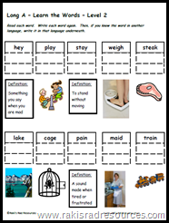 Differentiated Learning - Vocabulary and Word Work Packets