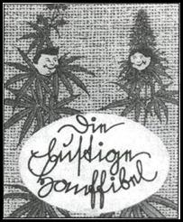 """Capa do """"Manual Divertida do Cânhamo"""", publicado pelo Instituto Nutricional do Reich em 1943."""