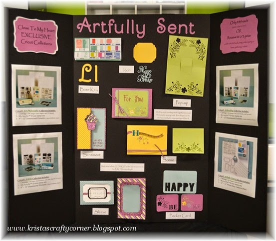 Artfully Sent display board_key L