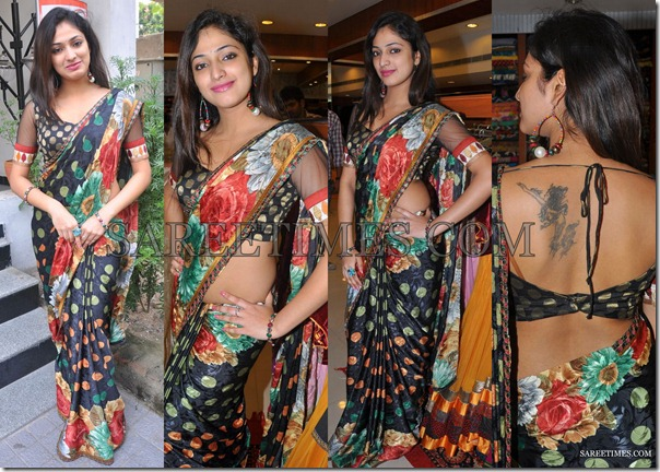 Hari_Priya_Black_Printed_Saree