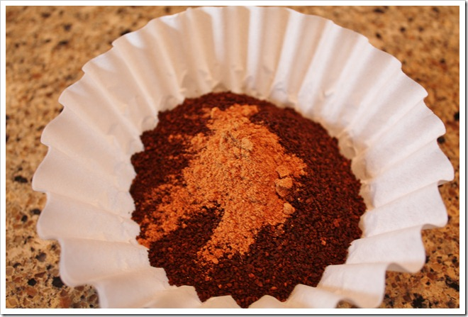 Pumpkin Spice on coffee grounds