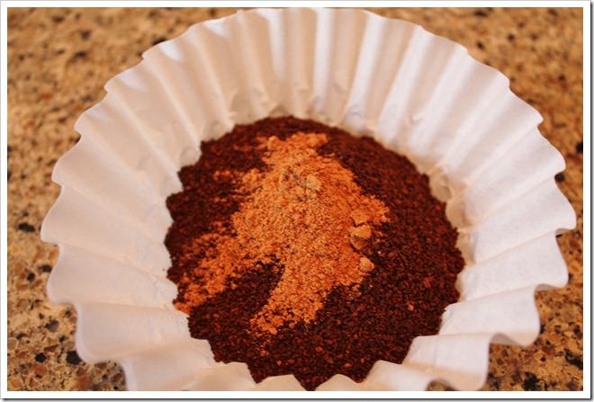 Pumpkin Spice on coffee grounds