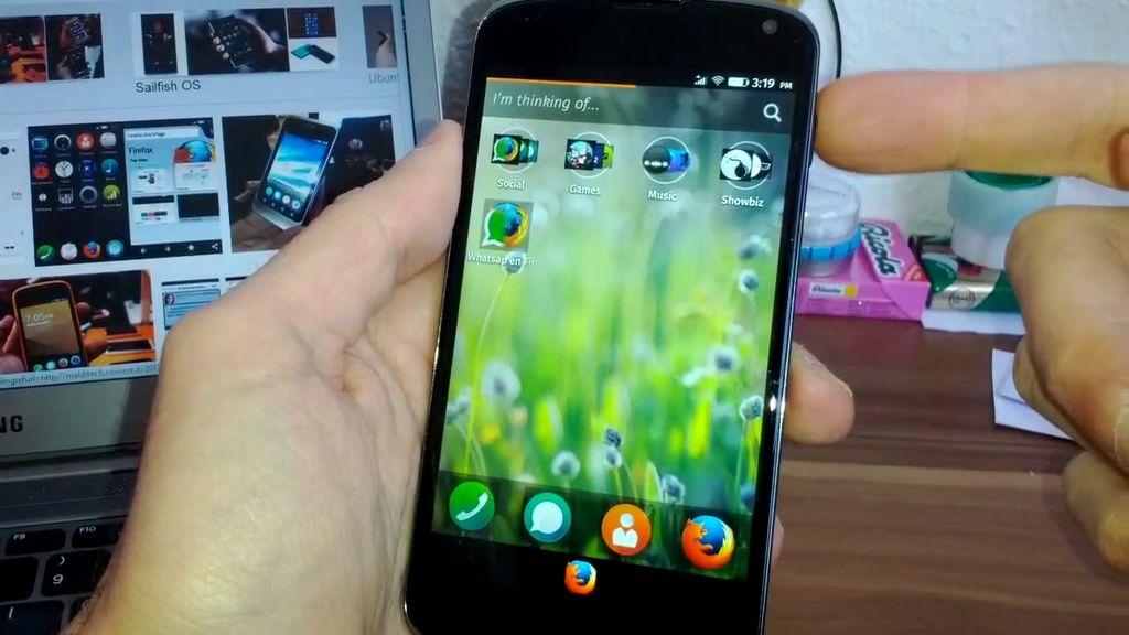 Firefox OS su Nexus 4