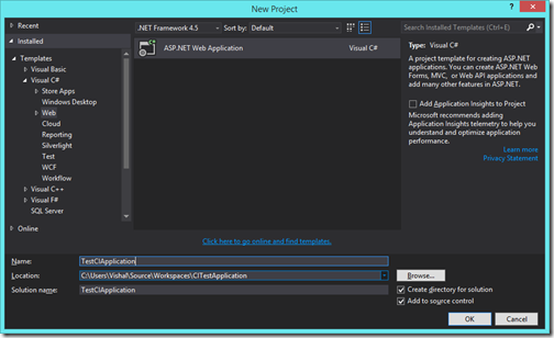 visual-studio-new-application