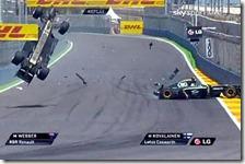 L'incidente di Webber nel gran premio d'Europa 2010