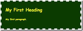 Hasil tampilan Code HTML h1 dan p