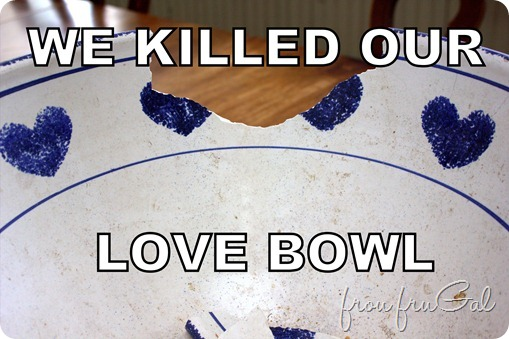 We Killed Our Love Bowl