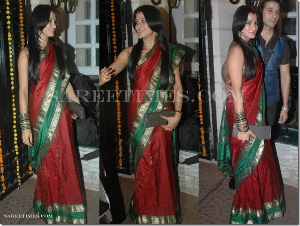 Maroon_Traditional_Silk_Saree