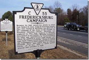 Fredericksburg Campaign, on Route 29 north of Warrenton, VA Marker C-55