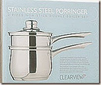 Clearview Stainless Steel Porringer, Bain Marie, Double Saucepan