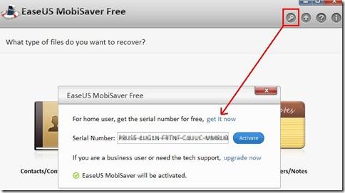 EaseUS MobiSaver Free attivare il programma