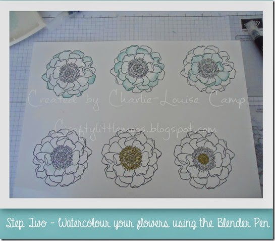 blended blooms tut step 2