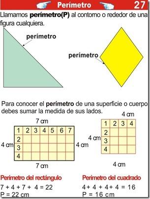 Ejercicios del perímetro para primaria