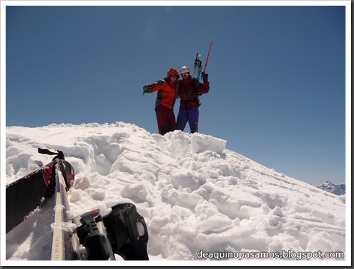 Arista NO y Descenso Cara Oeste con esquís (Pico de Arriel 2822m, Arremoulit, Pirineos) (Omar) 0787