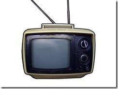 Foto de uma televisão antiga